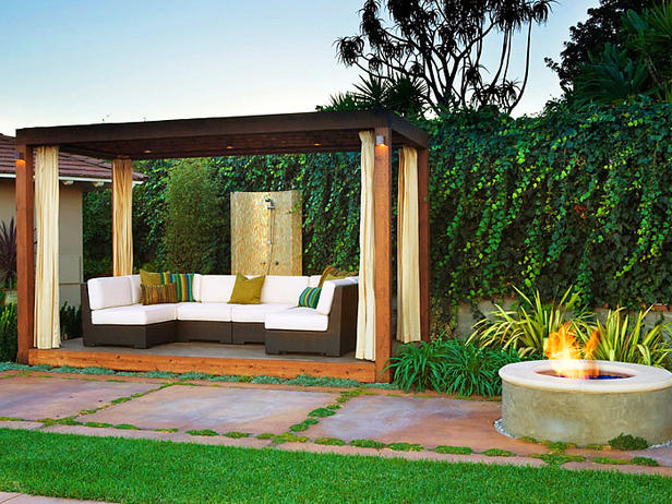 7 Landscape garden   modern living room under the stars this summer!