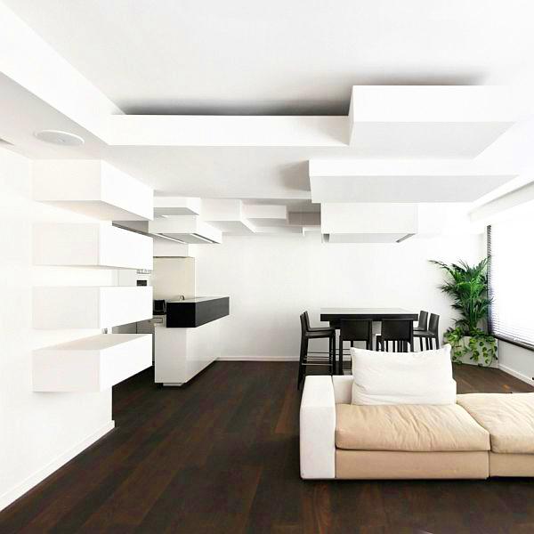 Геометрични елементи на окачения таван със силно въздействие
