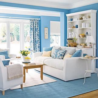 for Sky blue living room ideas