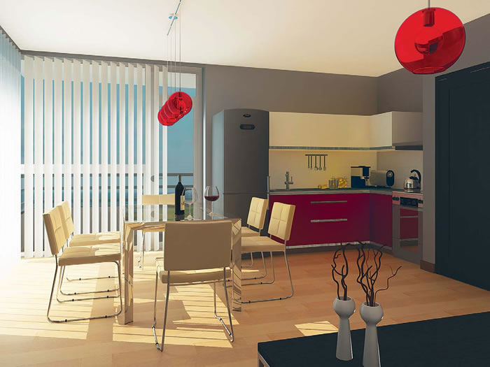 Интериорен проект на апартамент за сезонно ползване