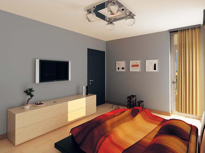 Интериорното решение на спалните