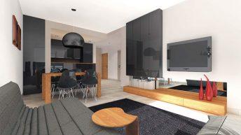 Дизайнерски проект на тристаен апартамент – ЧЕРНО И БЯЛО +