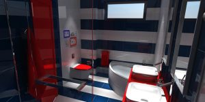 Интериорен дизайн на две бани