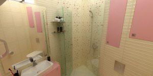 Дизайн на две бани – част от апартамент от 82 кв.м
