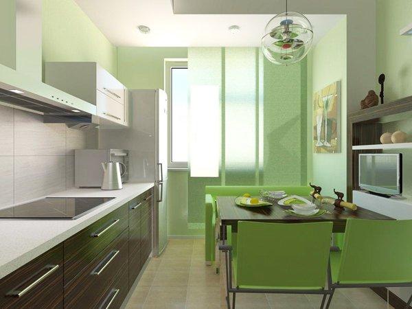 Кът за хранене и в малка кухня