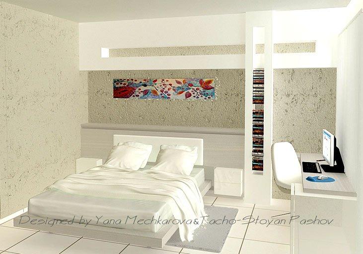 Във второто предложение дизайнерският тандем залага на класическото бяло, съчетано с пастелни светли тонове.