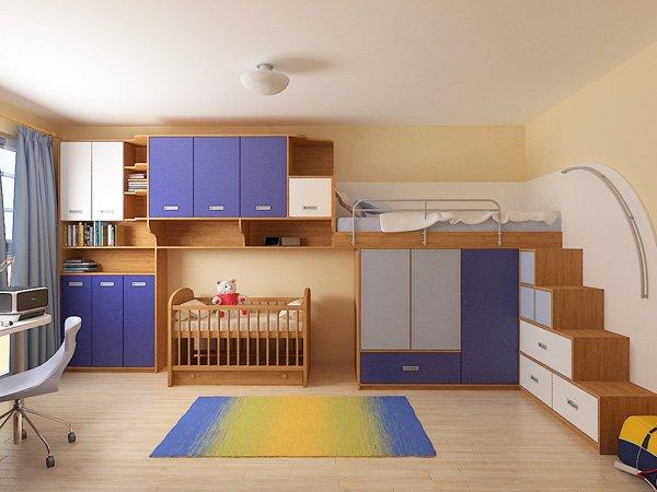 Леглото за ПО-голямото братче е проектирано на второ ниво