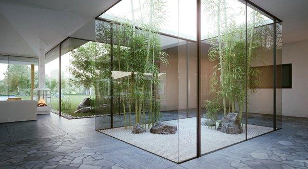 Остъклени обеми позволяват интеграция на природата в интериора
