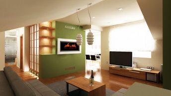 Интериорен дизайн на ателие  70 кв.м