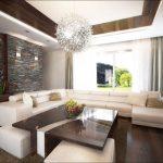 Декорацията с камък създава индивидуалнония характер на дневната