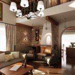 Камината е изградена в класически традиционен стил