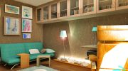 Кабинет – част от интериорен проект  на апартамент 139 кв.м