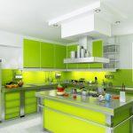 Интериорен дизайн на зелени кухни