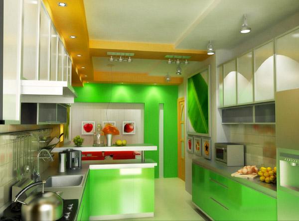 Зелено и жълто в кухнята