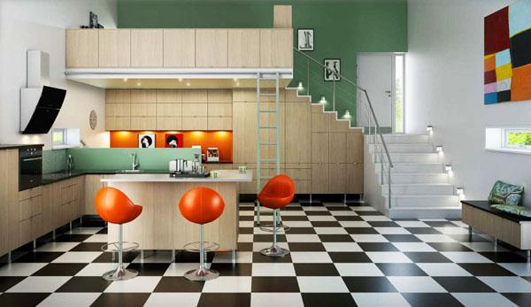 Зелено, черно, бяло и оранжево в успешна цветова комбинация