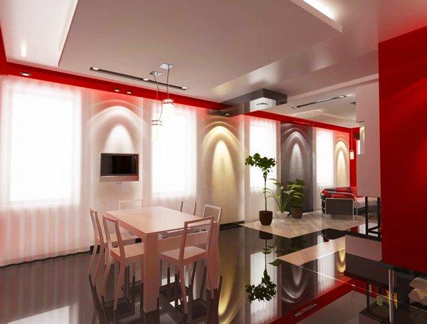 Осветлението на помещението е умело проектирано