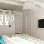 Флорални  мотиви покриват стените и интериорния текстил