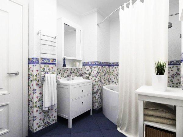 Банята е оборудвана с голяма вана