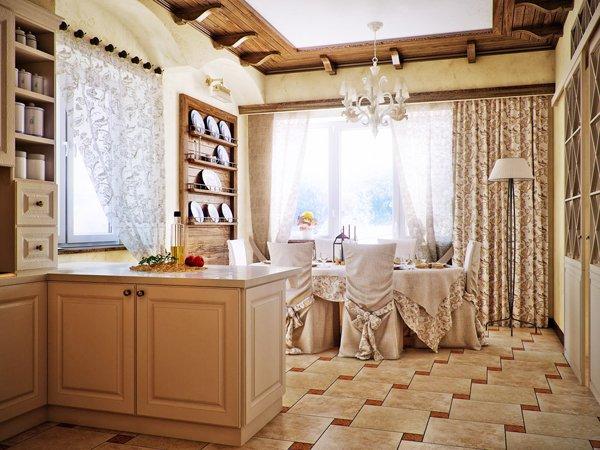 Бар-плот отделя къта за готвене от трапезарията