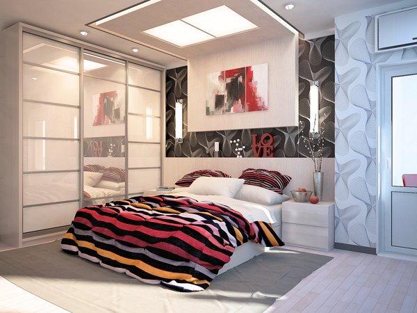 Проект на спалня за млад мъж