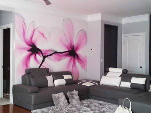 Декорация с принтове с флорални мотиви