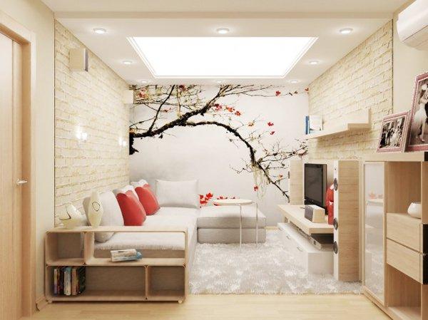 Цветна градинка на стената
