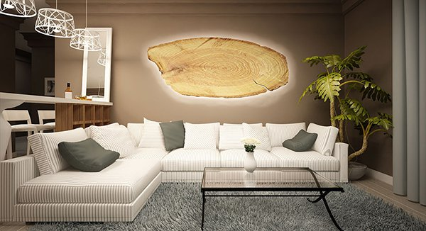 Декоративно пано с дървесен мотив