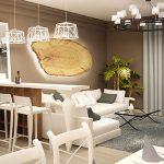 Интериор в бяло на модерен апартамент
