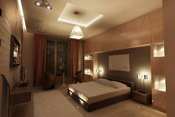 Спалня със система от осветление