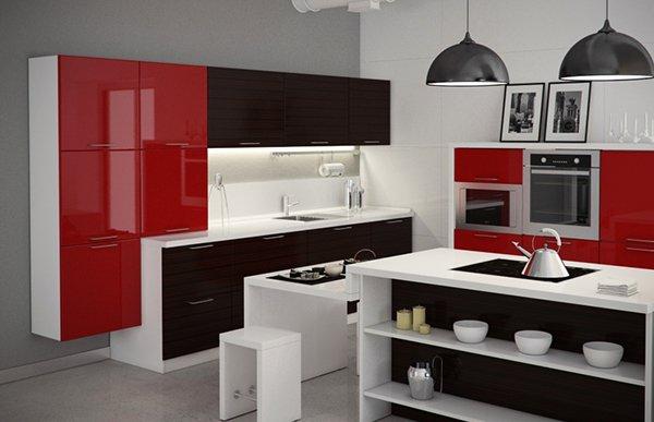 кухни-4erno-4erveno-16