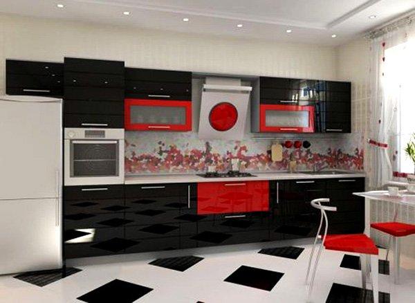 кухни-4erno-4erveno-24