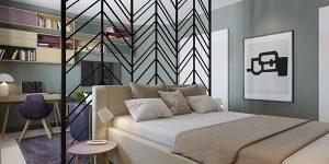 Как спалнята се настани в дневната… или обратното?