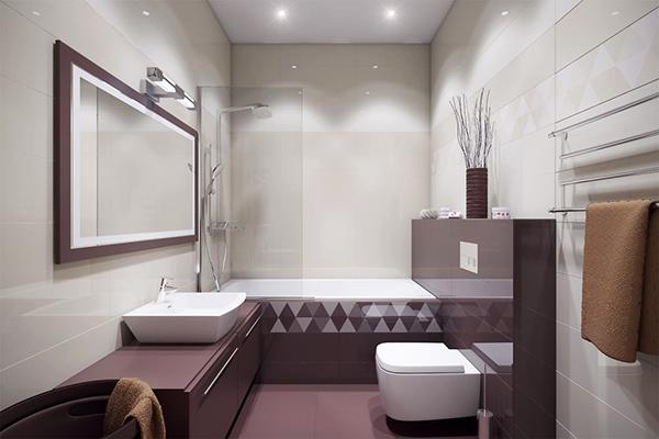 Баня с вана и стъклен параван