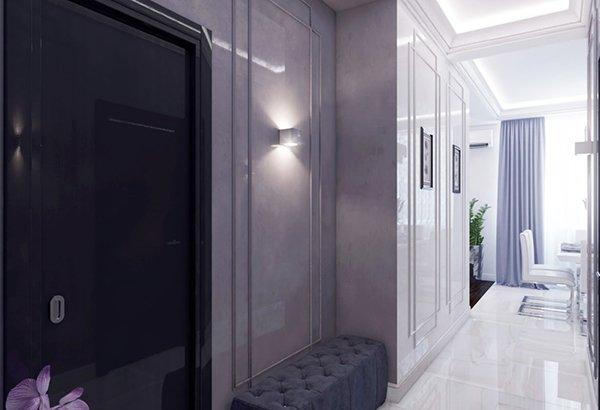 Вратата към гардеробното помещение