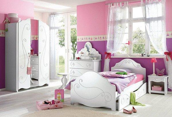 35 идеи за детски стаи в розово и лилаво