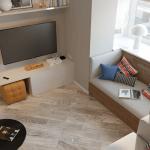 Апартамент с една спалня - дневна
