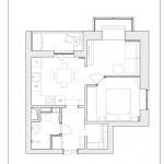 План на апартамент с една спалня
