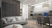 Интериорен дизайн на апартамент 80 кв.м