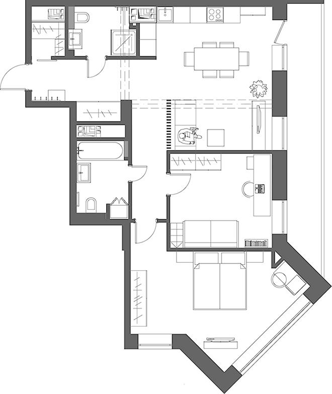 Апартамент 80 кв.м - план