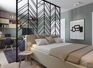 Интериорен дизайн на малък апартамент с площ 44 кв.м
