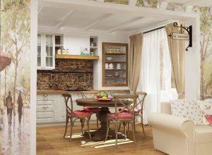 Интериорен дизайн на двустаен апартамент 64 кв.м