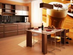 26 идеи за декорация с фототапет в кухнята