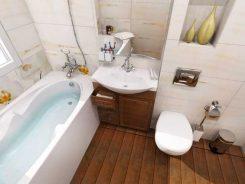 Дизайнерски проект на баня от 9 кв.м