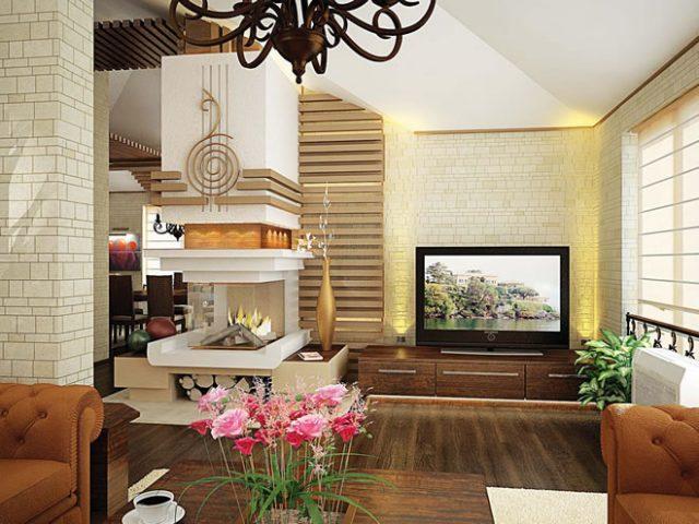 Вътрешен дизайн на къща до Карлово