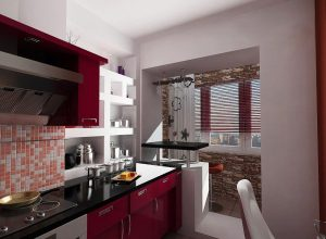 21 идеи за кухни с присъединен балкон