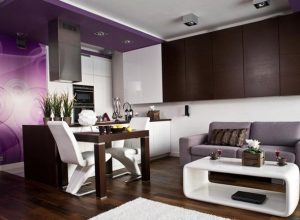 Интериорен дизайн на дневна зона в малко жилище