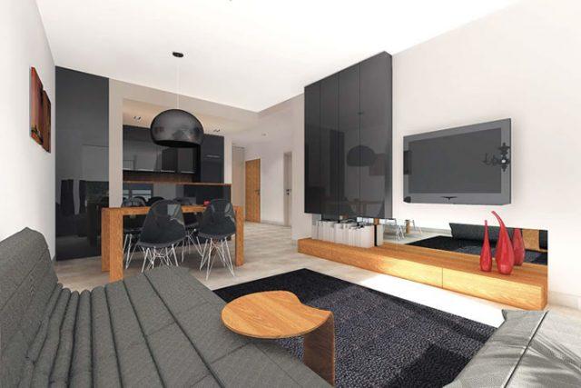 Дизайнерски проект на тристаен апартамент - ЧЕРНО И БЯЛО +