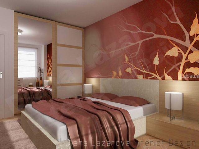 Интериорен проект на спалня 13.4 кв.м