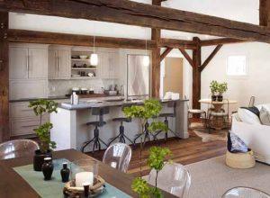 Интериор на кухня в букет от стилове