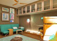 Кабинет - част от интериорен проект на апартамент 139 кв.м